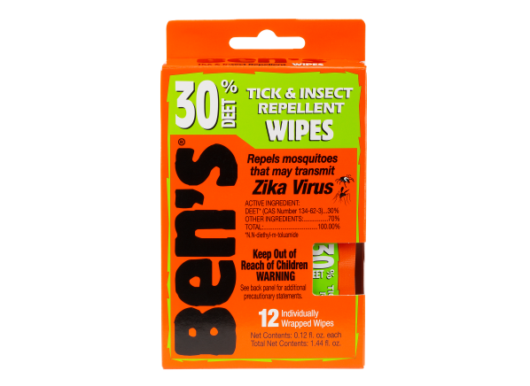 Ben's Tick & Insect Repellent Wipes