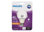 40W Soft White Clear Globe G25 Dimmable LED