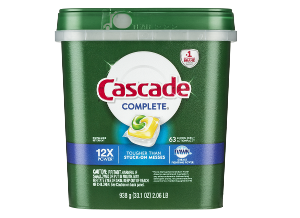 Cascade Complete ActionPacs with Dawn dishwasher detergent