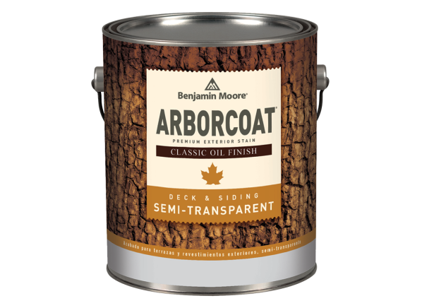Benjamin Moore Arborcoat Semi-Transparent Deck & Siding wood stain