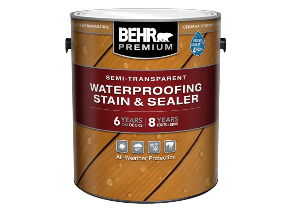 Behr Premium Semi-Transparent Waterproofing Stain & Sealer (Home Depot)