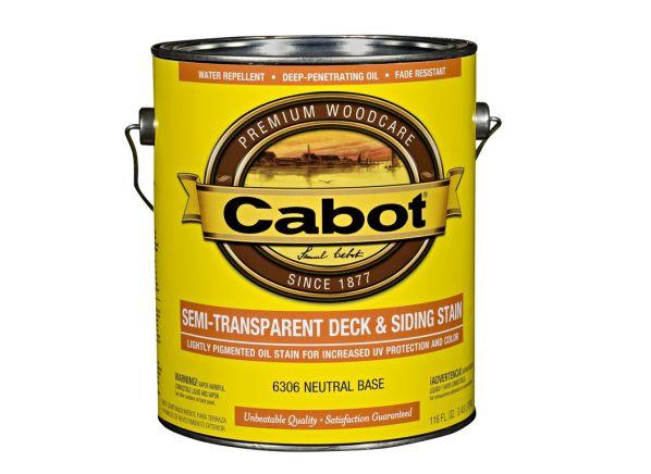 Cabot Semi-Transparent Deck & Siding wood stain