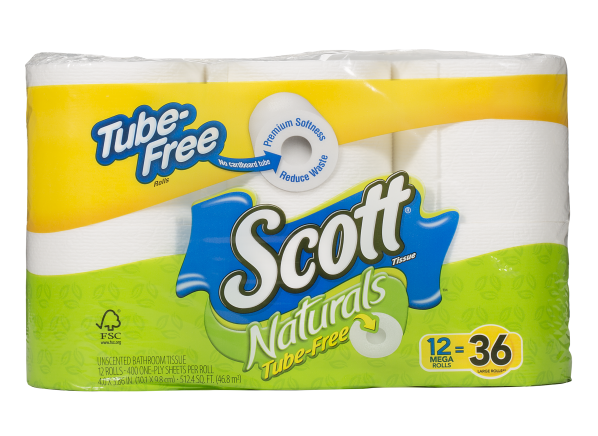 Scott Naturals Tube Free toilet paper