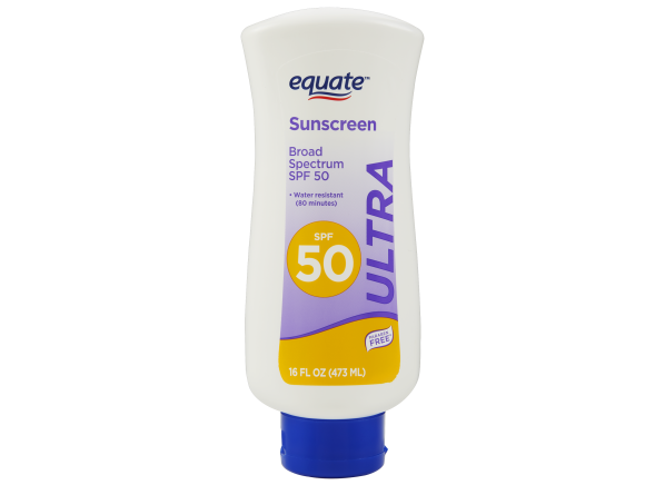 Equate (Walmart) Ultra Lotion SPF 50 sunscreen