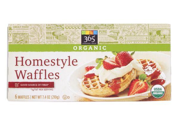 365 Everyday Value (Whole Foods) Homestyle frozen waffle