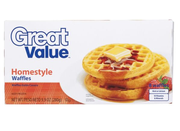 Great Value Homestyle (Walmart) frozen waffle