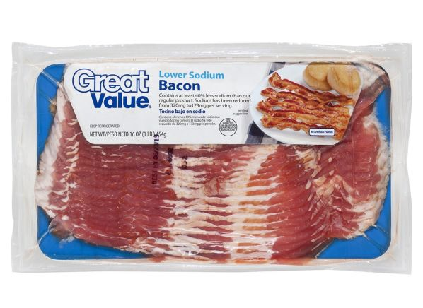 Great Value Lower Sodium Walmart Bacon Summary Information From