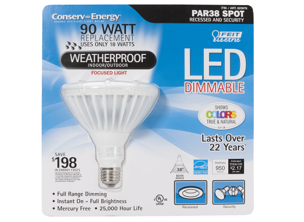 Feit Electric Conserv Energy 90Watt PAR38 lightbulb