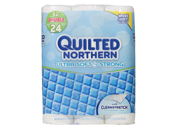 Quilted Northern Ultra Soft & Strong with CleanStretch toilet paper