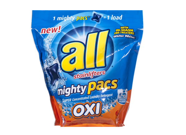 All Mighty Pacs Oxi laundry detergent