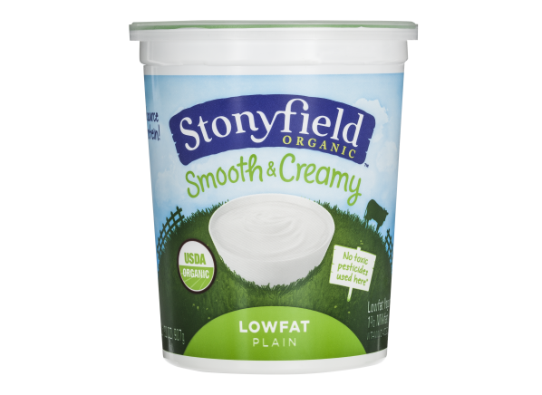 Stonyfield Organic Smooth & Creamy Plain Lowfat Yogurt