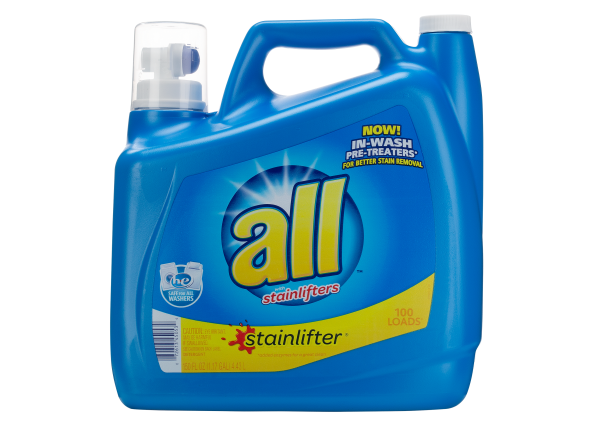 All Stainlifter (with in wash pretreaters) laundry detergent