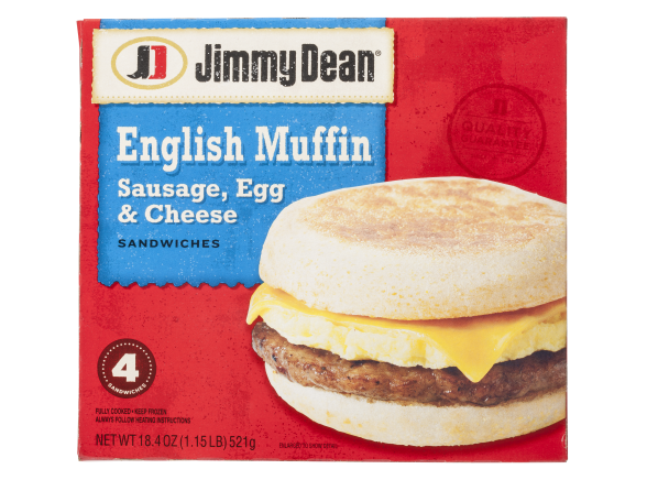 Jimmy Dean English Muffin Sausage, Egg & Cheese breakfast sandwich