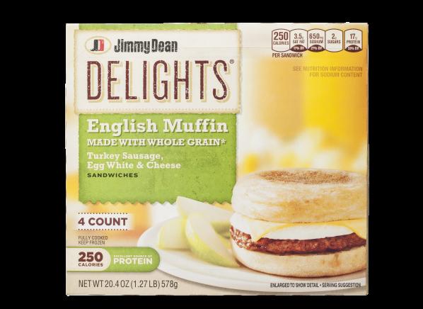 Jimmy Dean Delights English Muffin Turkey Sausage, Egg White & Cheese breakfast sandwich
