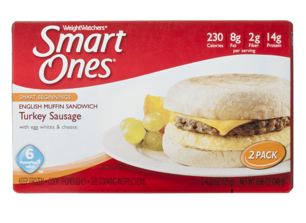 Weight Watchers Smart Ones English Muffin Sandwich Turkey Sausage