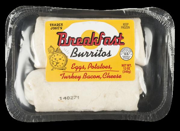 Trader Joe's Breakfast Burritos Eggs, Potatoes, Turkey Bacon, Cheese