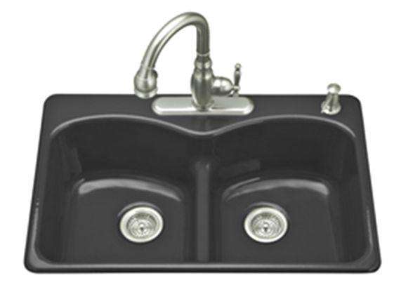 Enameled steel sink