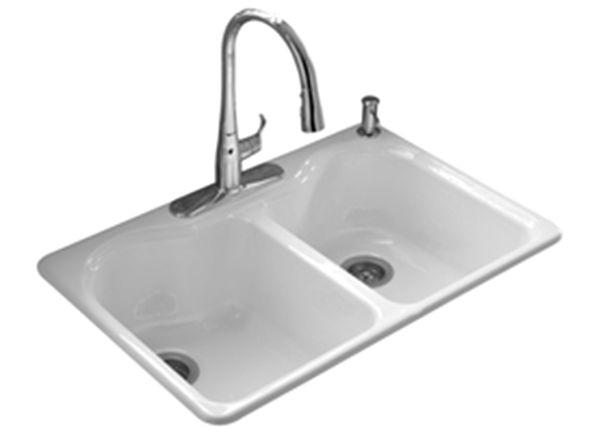 Enameled cast iron sink