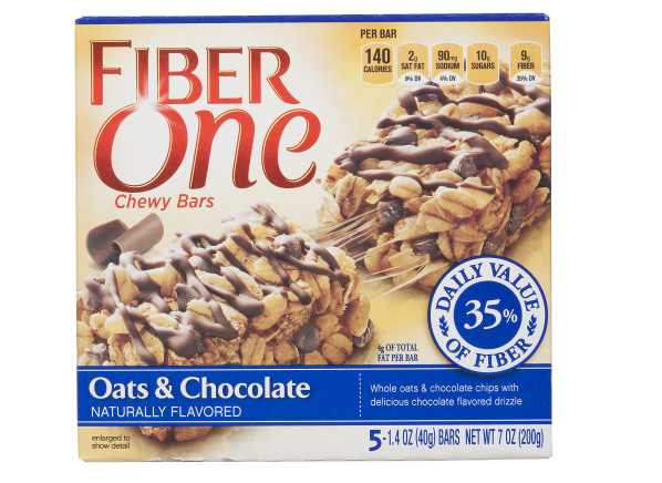 Fiber One Chewy Bars Oats & Chocolate healthy snack