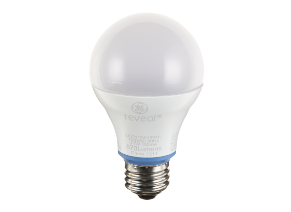 GE A19 60W Equivalent Reveal lightbulb