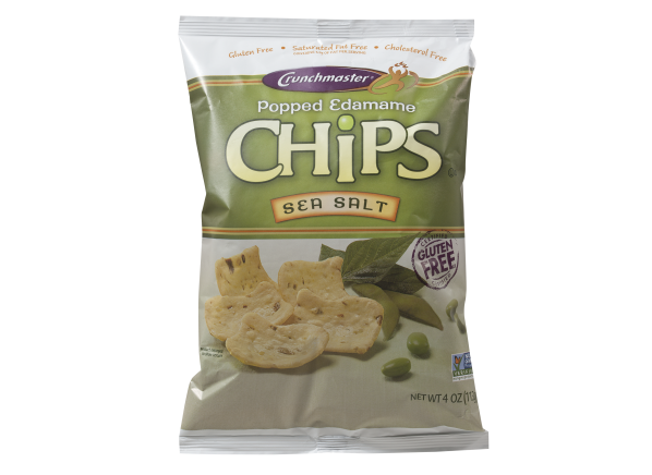 Crunchmaster Popped Edamame Sea Salt Chips healthy snack