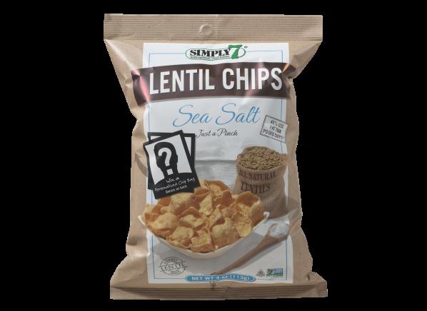 Simply 7 Lentil Chips Sea Salt healthy snack