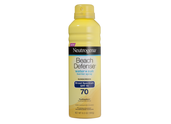Neutrogena Beach Defense Water + Sun Protection Spray SPF 70 sunscreen