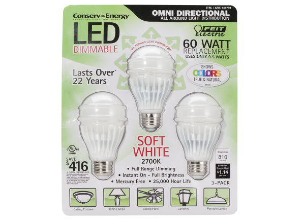 Feit Electric 60 Watt Replacement 9.5 W LED lightbulb