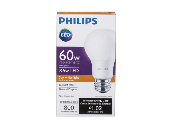 Philips 60W Replacement 8.5W LED Soft White lightbulb