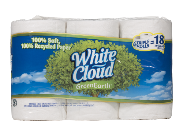 White Cloud Green Earth Bath Tissue (Walmart) toilet paper