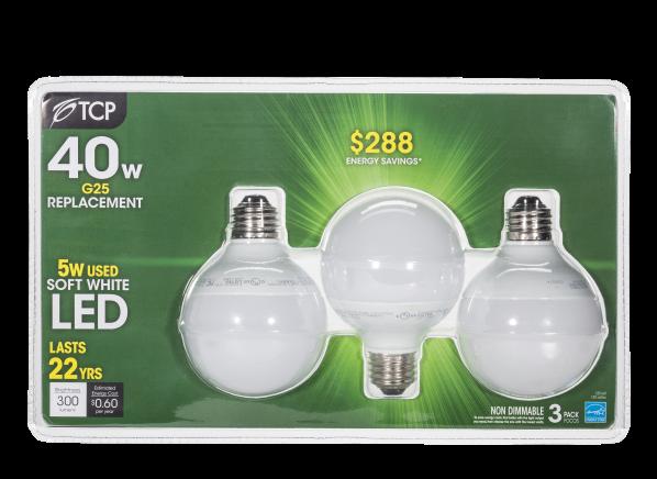 TCP 40W Equivalent Soft White G25 Dimmable LED lightbulb