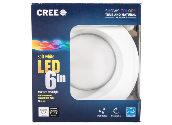 Cree 6 in TW Series 65W Equivalent Dimmable Retrofit LED Downlight lightbulb