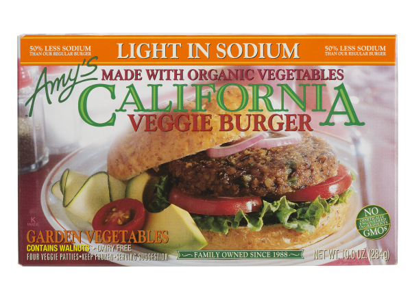 Amy's Light in Sodium California veggie burger
