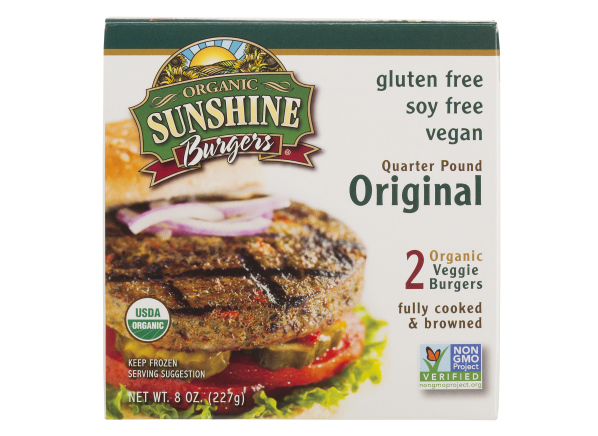 Sunshine Burgers Quarter Pound Original veggie burger