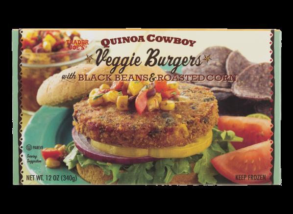 Trader Joe's Quinoa Cowboy with Black Beans & roasted Corn veggie burger