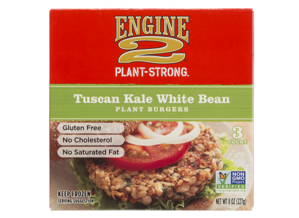 Engine 2 Tuscan Kale White Bean veggie burger
