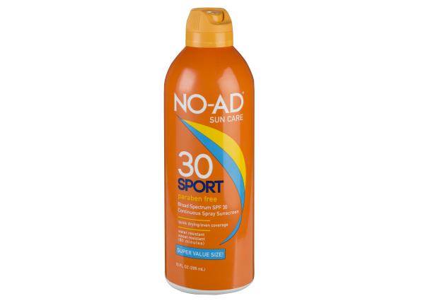 No-Ad Sport Continuous Spray SPF 30 sunscreen