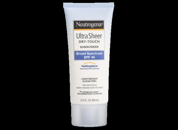 Neutrogena Ultra Sheer Dry-Touch Lotion SPF 45 sunscreen