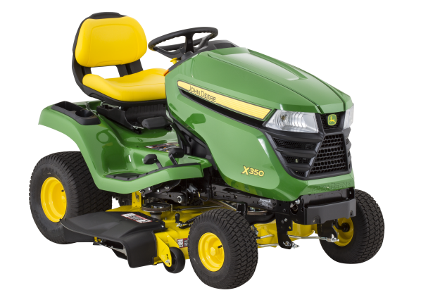 John Deere X350-42 riding lawn mower & tractor