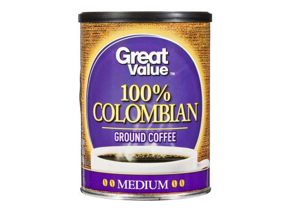 Great Value (Walmart) 100% Colombian ground coffee