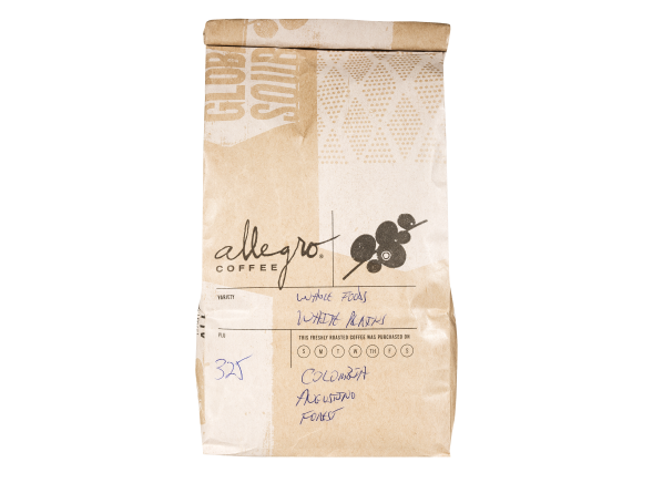Allegro (Whole Foods) Colombia Agustino Forest whole bean coffee