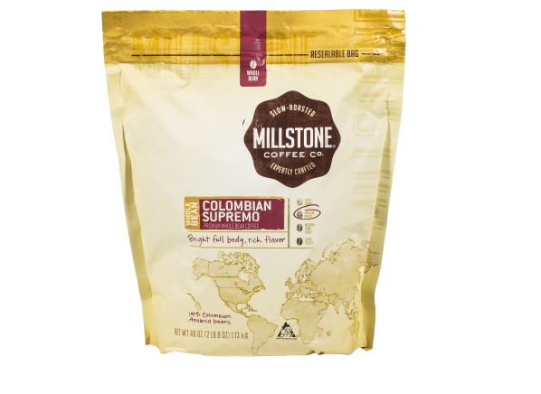 Millstone Colombian Supremo whole bean coffee