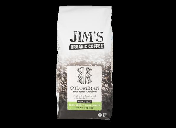 Jim's Organic Colombian Santa Marta Montesierra whole bean coffee