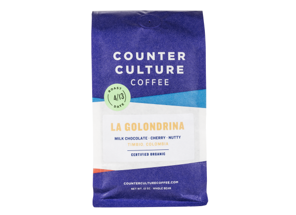 Counter Culture La Golondrina Colombia Certified Organic whole bean coffee