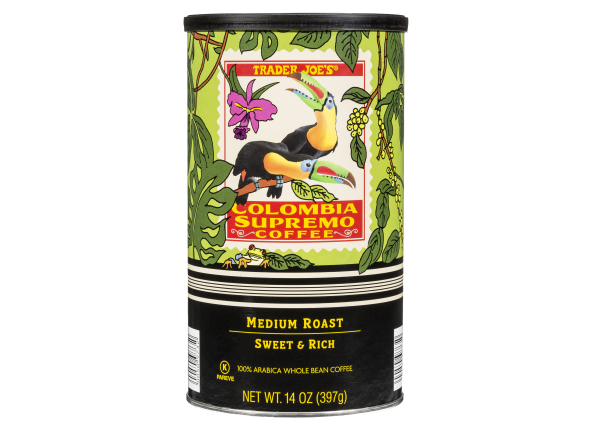 Trader Joe's Colombia Supremo whole bean coffee