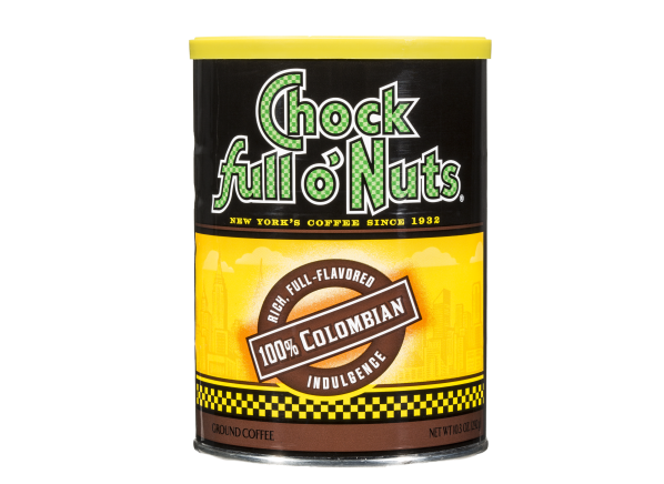 Chock Full o'Nuts 100% Colombian ground coffee