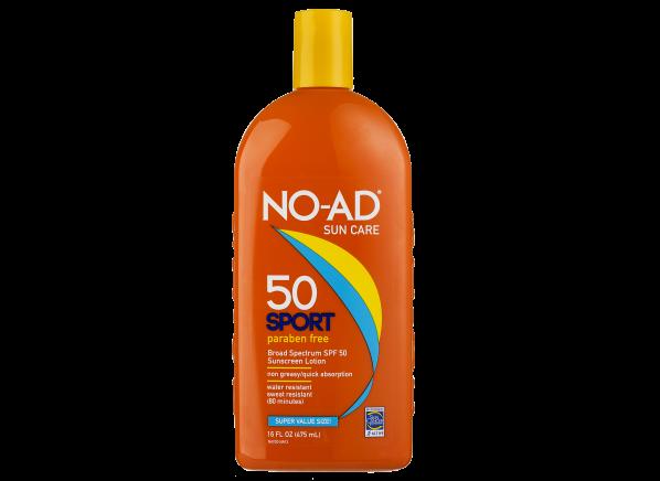 No-Ad Sport Lotion 50 sunscreen