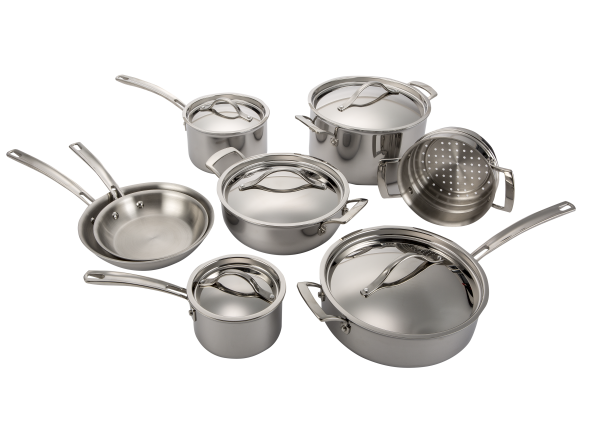 Kirkland Signature Costco 13 Piece Stainless Steel Tri Ply Clad Kitchen Cookware
