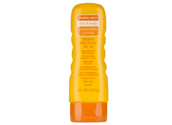 Trader Joe's Face & Body Lotion SPF 30 sunscreen