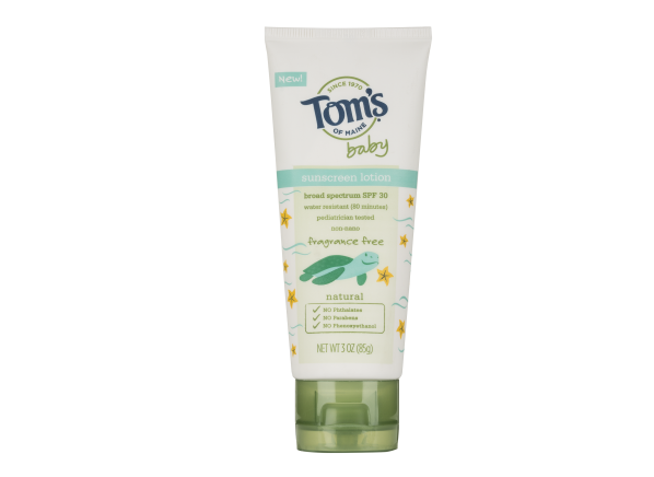 Tom's of Maine Baby Lotion SPF 30 sunscreen